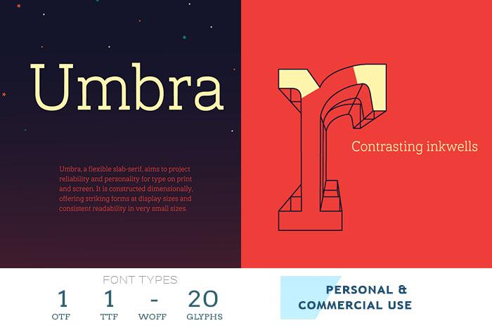 umbra best web font