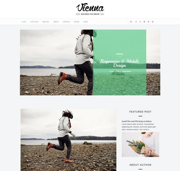 vienna website template