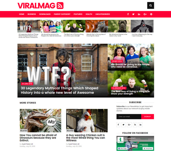 multipurpose magazine blogger template