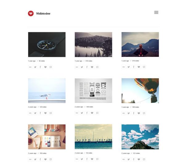 wallstocker tumblr grid theme