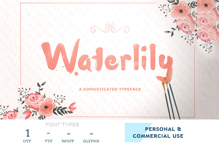 waterlilly font