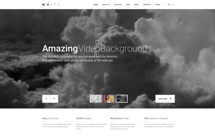 white free html template