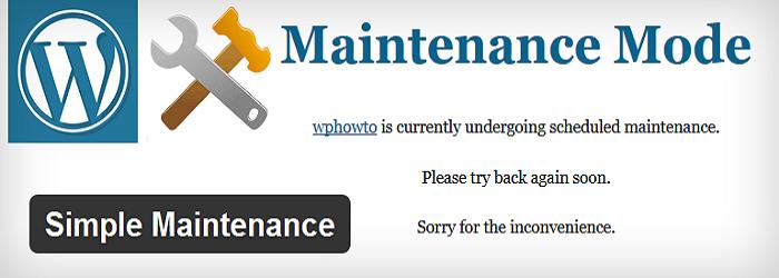 wordpress plugin to put your website in offline mode