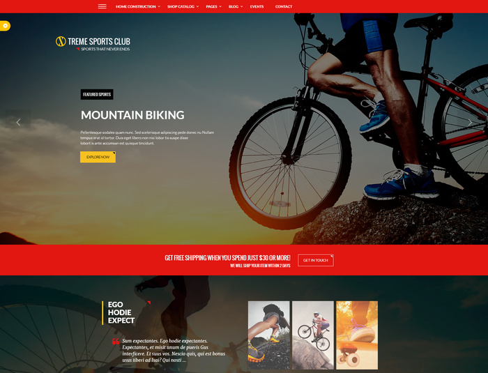 Xtreme wordpress online store for sports