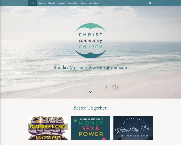 community church web design