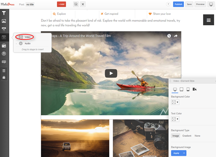 embed videos from youtube, vimeo in wordpress