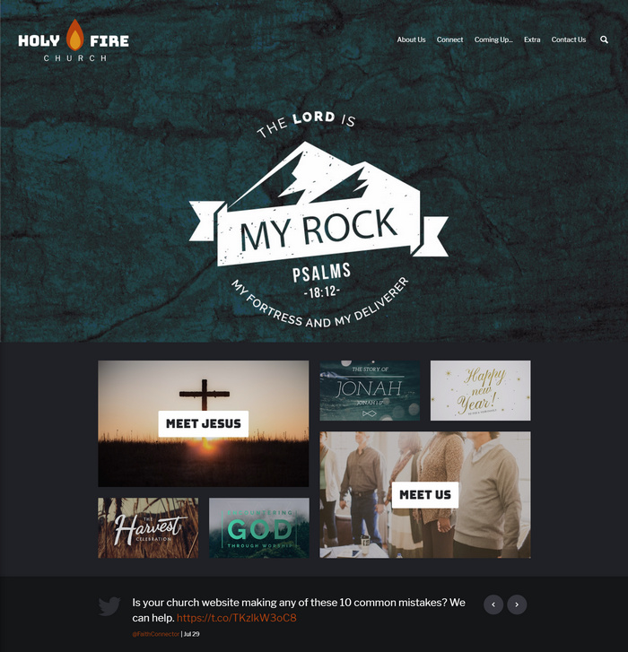 holyfire church website design