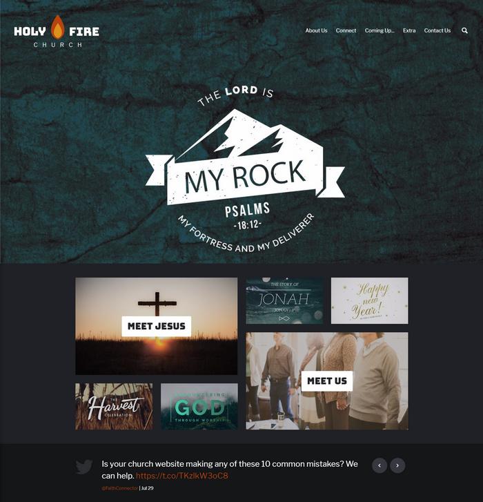 holyfire church website design