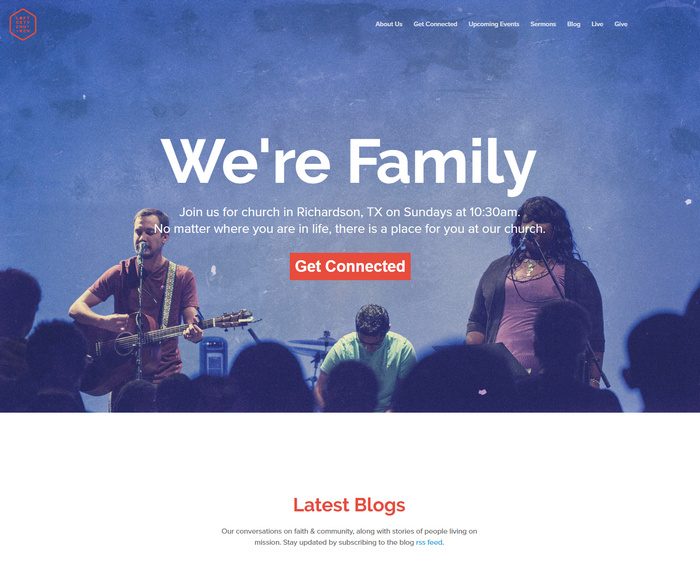 loft church website design