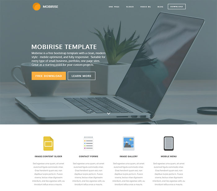 mobirise free bootstrap template