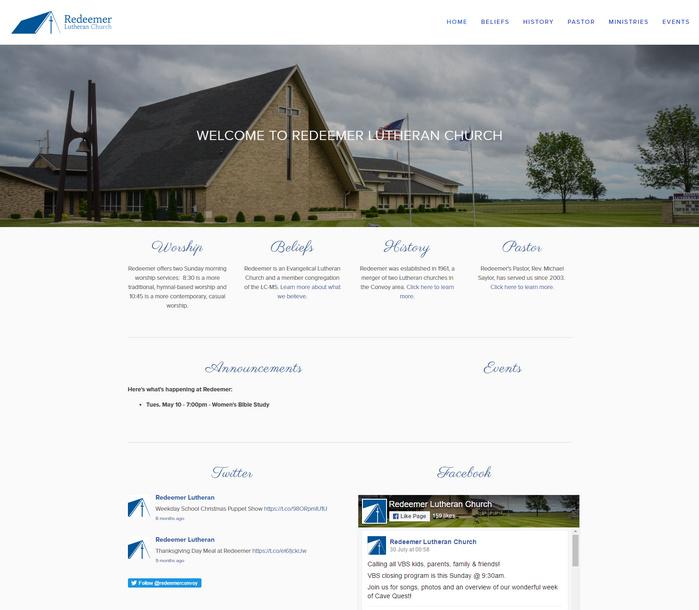 redeemer convoy website for church
