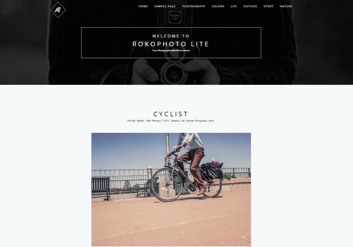 rokophoto - free photography wordpress themes for creatives