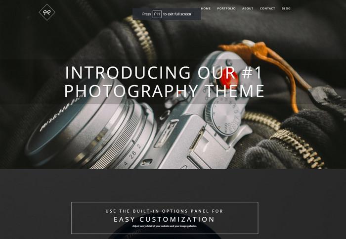 rokophoto pro - best photography wordpress theme