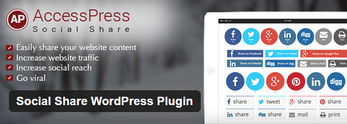 WordPress Social Share Plugin