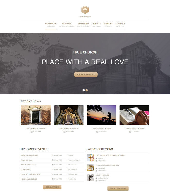 true church - free html5 website template