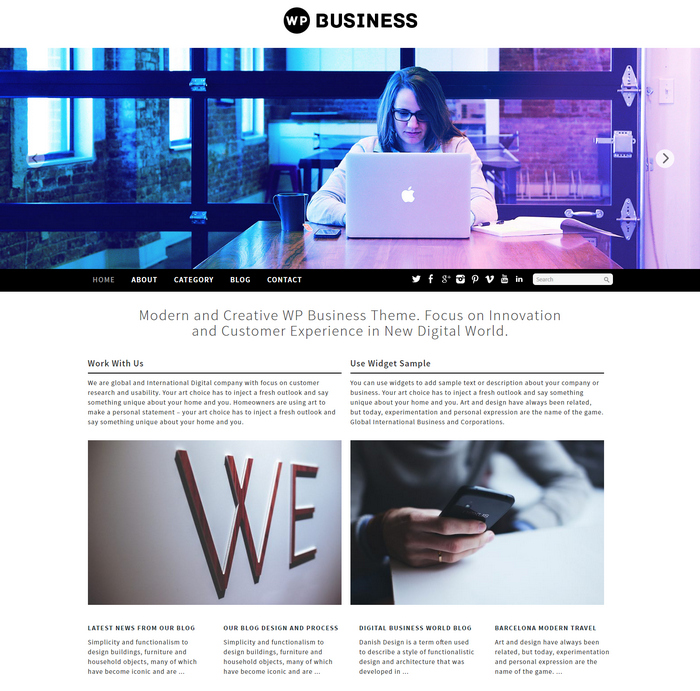 Free Business Responsive Theme