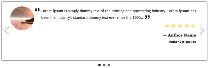 Easy Testimonials Rotator for wordpress