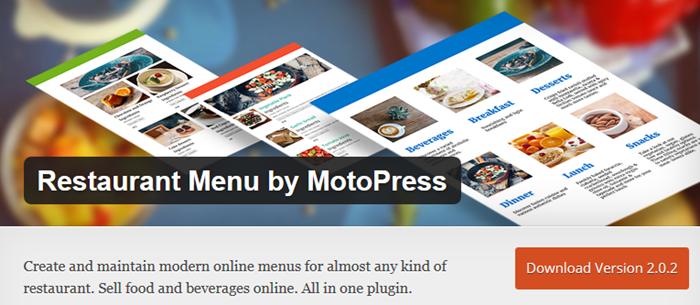 MotoPress Restaurant Menu plugin
