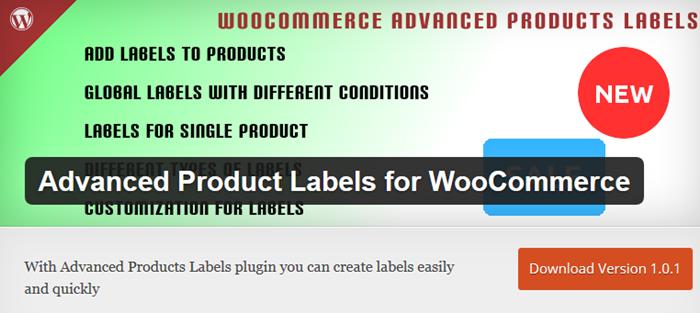 WooCommerce advanced product labels plugin