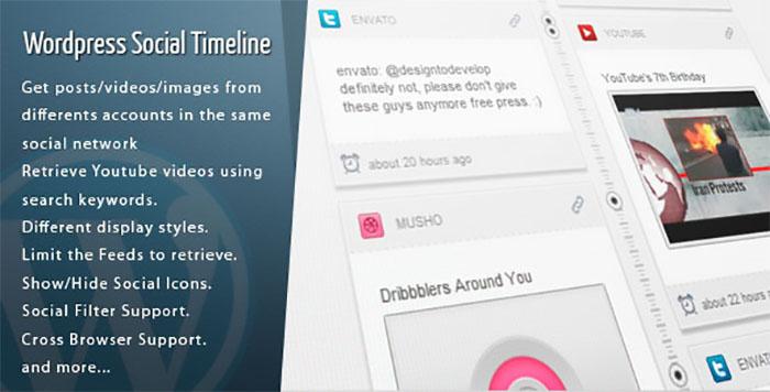 Wordpress Social Timeline plugin