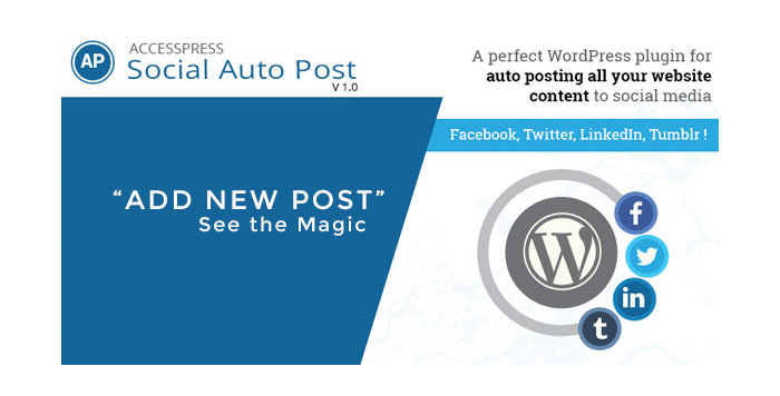 Auto Post content to social media sites