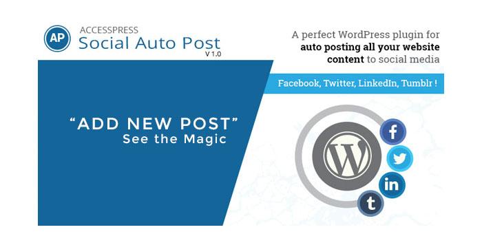 Auto Post content to social media sites