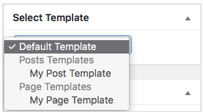 drop-down selector for Templatify