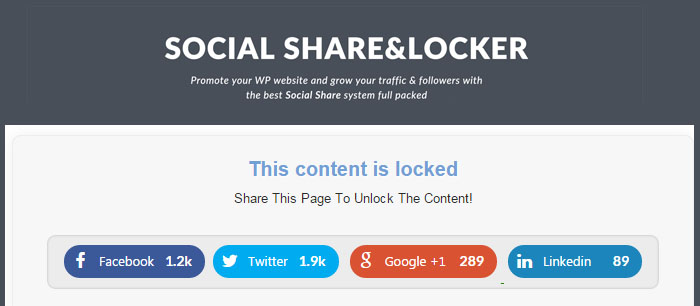Social Share & Locker Pro WordPress Plugin