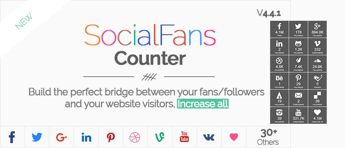 WP Responsive Social Counter Plugin