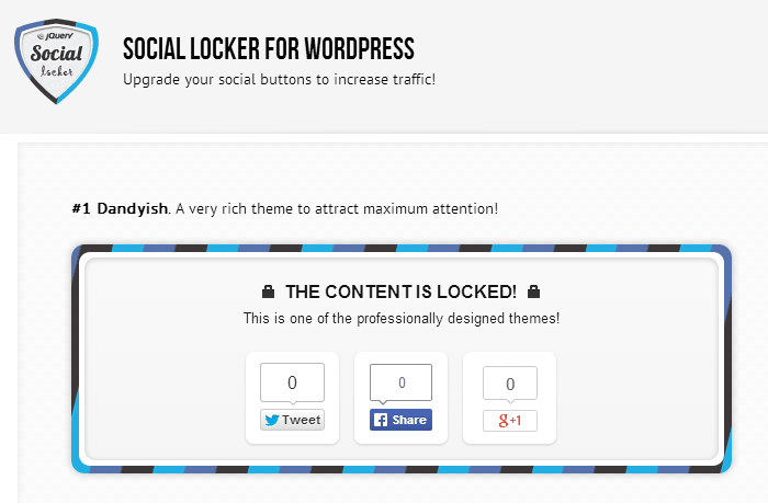 Social Locker plugin for WordPress