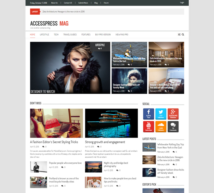 modern WordPress magazine theme