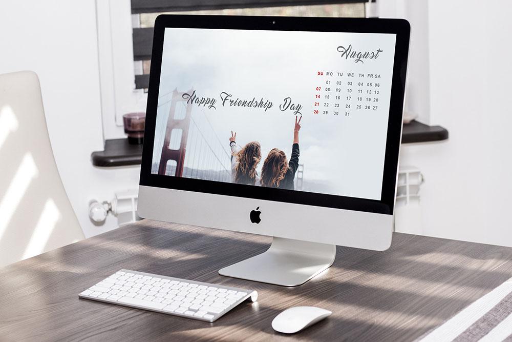 August 2016 calendar design psd