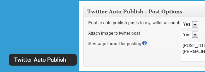 Publish posts automatically to Twitter