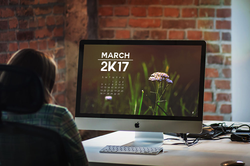 free monthly calendar template for march 2017