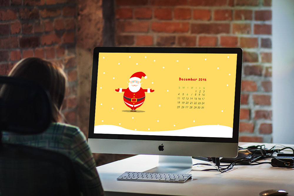 printable calendar template for Christmas eve