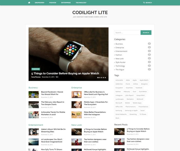 free news magazine style WordPress theme