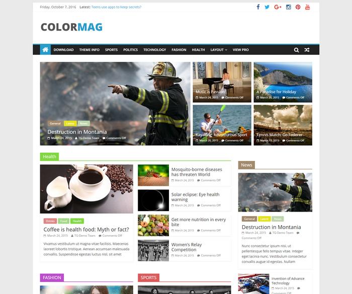 free Magazine Style Responsive WordPress Theme