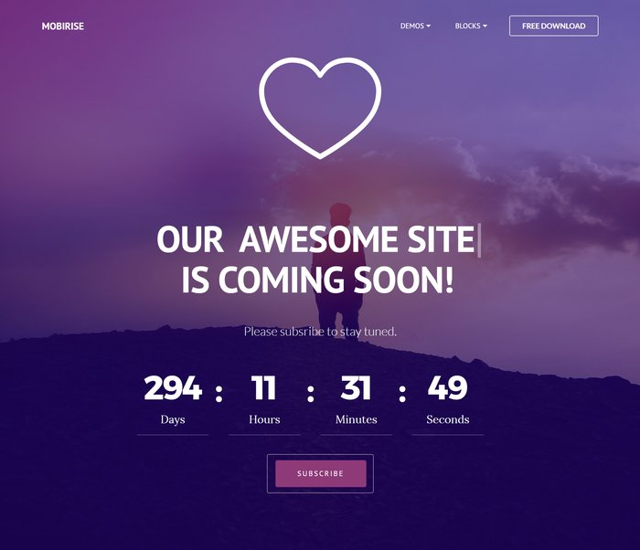 Coming soon one-page template