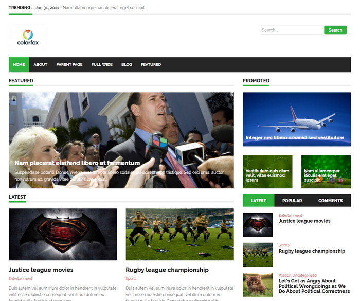 free premium responsive WordPress theme