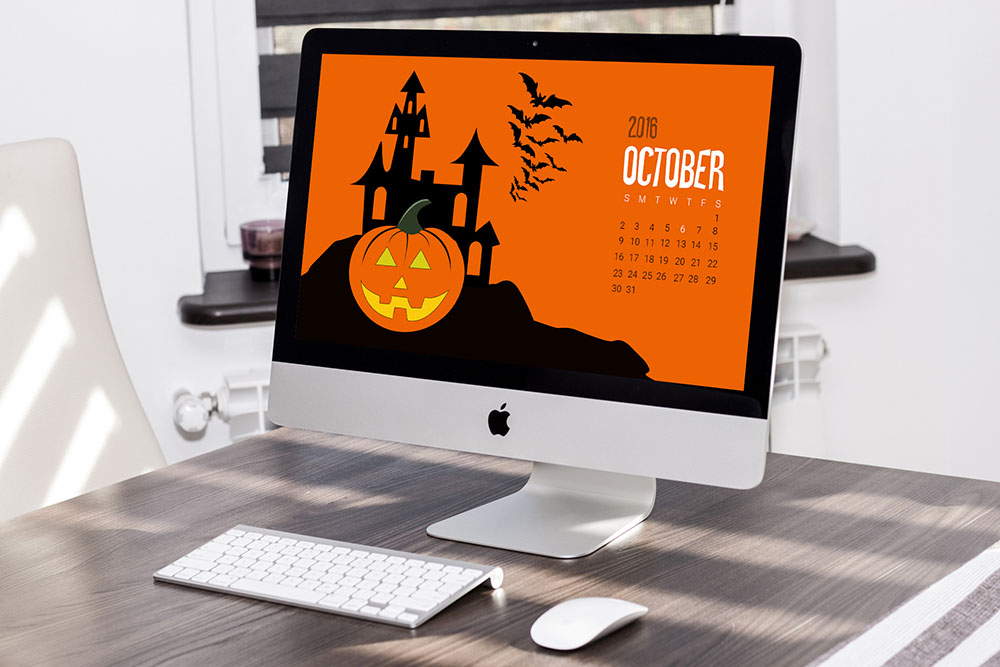halloween calendar template for october