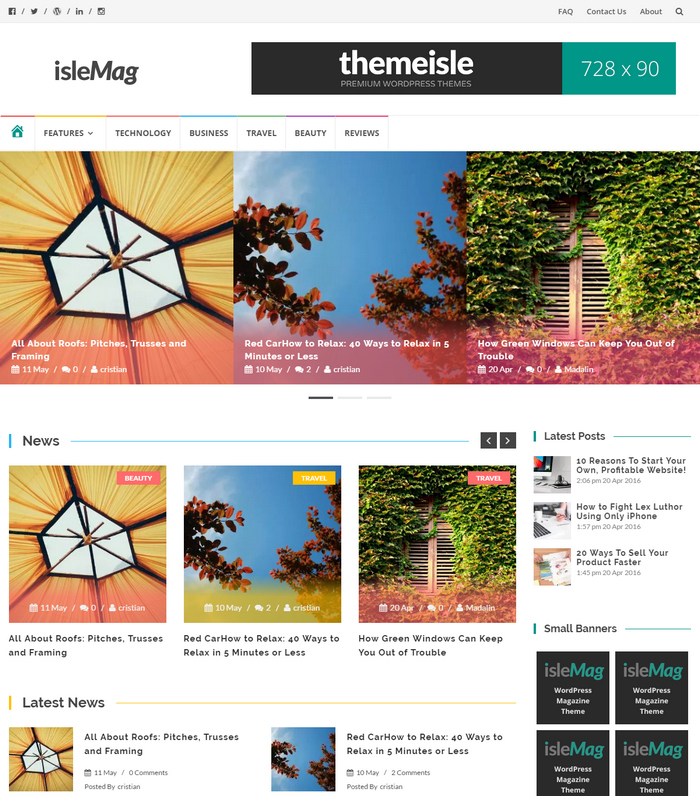 islemag theme for magazine news websites