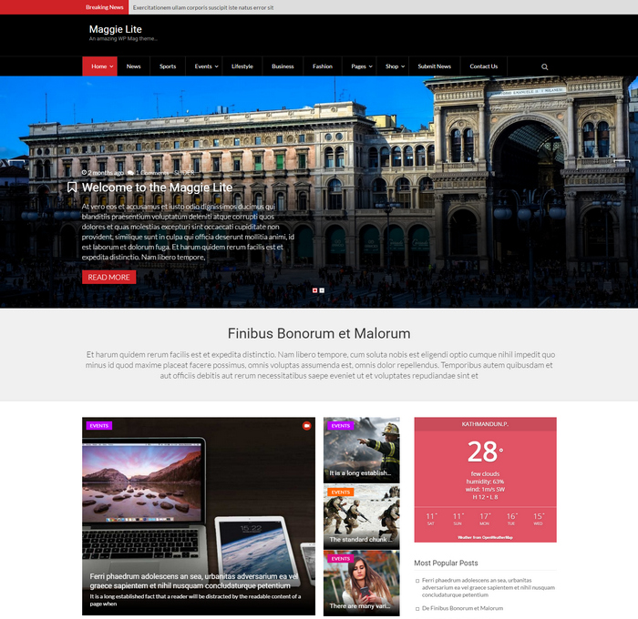 free modern WordPress magazine theme