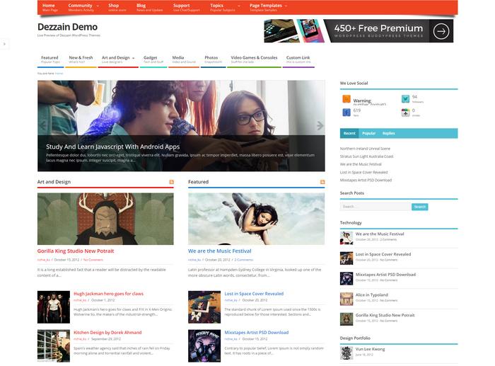Community and magazine Theme for WordPress