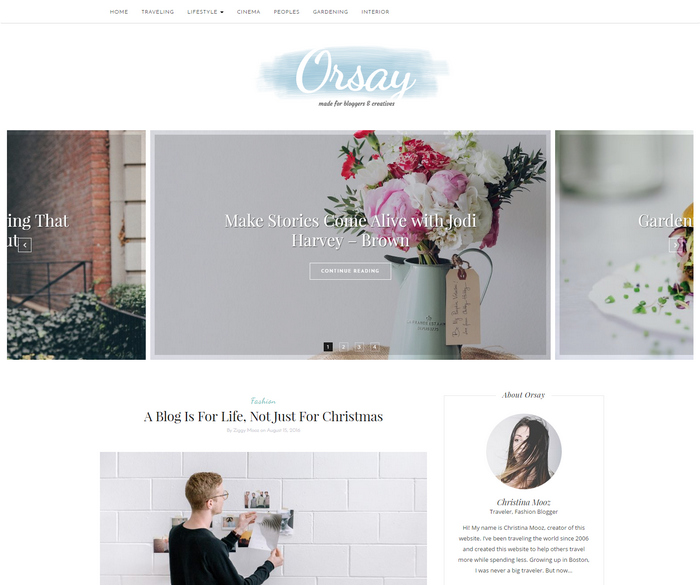 wordpress theme for fashion & lifestyle bloggers
