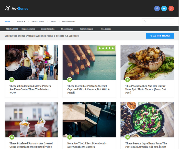Portal - Free Magazine WordPress Theme