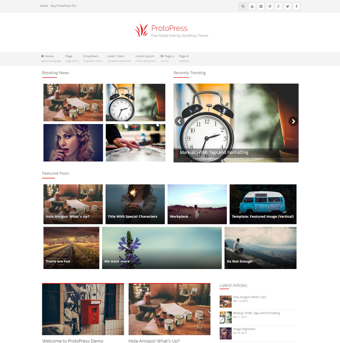 protopress news website theme