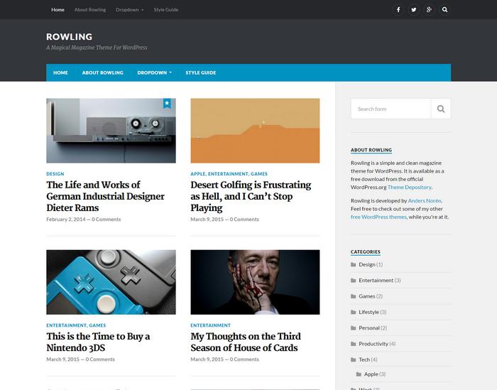 free elegant magazine theme for WordPress