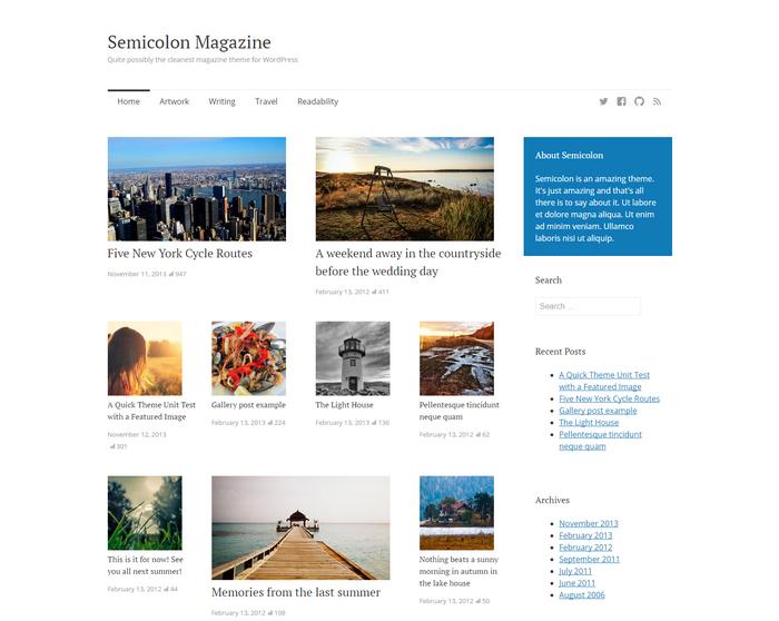 cleanest magazine theme for WordPress