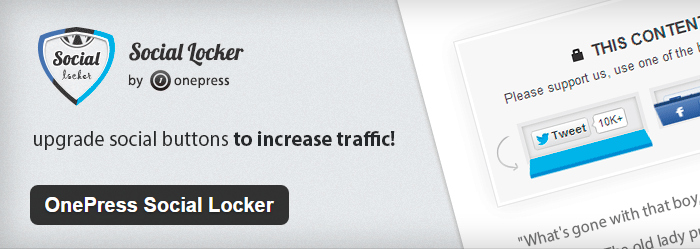 OnePress Social Locker for wordpress