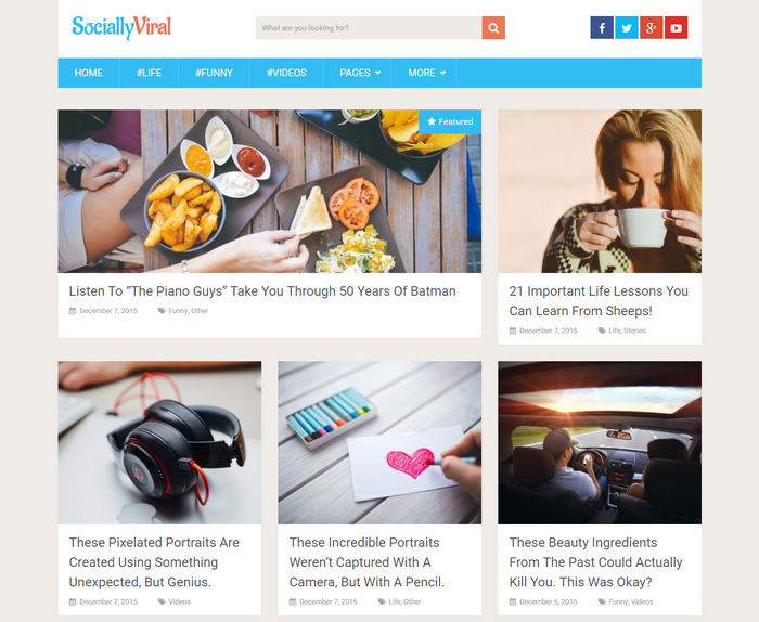 Socially Viral wordpress magazine theme